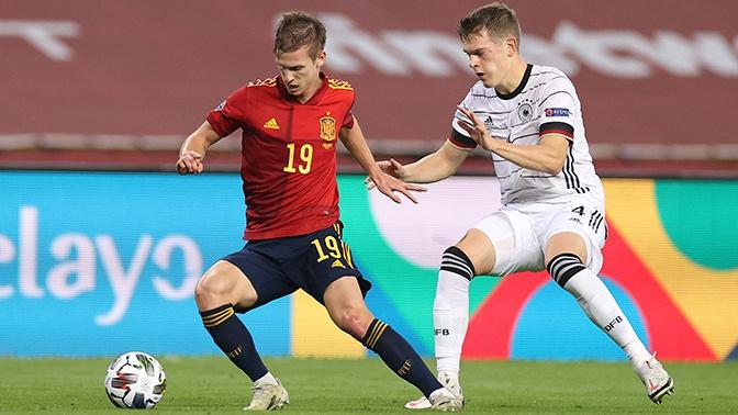 Сборная Испании с разгромным счетом победила Германию в матче Лиги наций