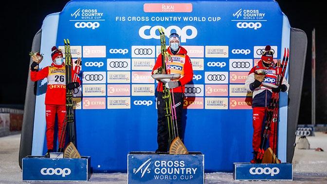 Российские лыжники Червоткин и Большунов завоевали медали на этапе Кубка мира