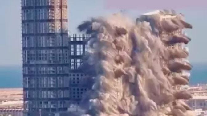 В Абу-Даби одновременно взорвали четыре небоскреба: видео