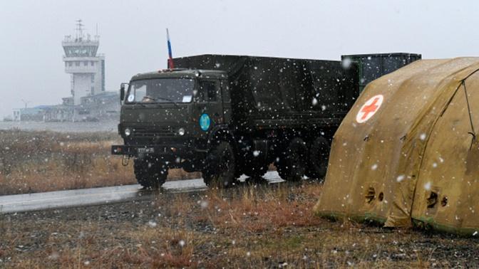 Спасатели МЧС РФ эвакуировали автобус с беженцами в горах Карабаха