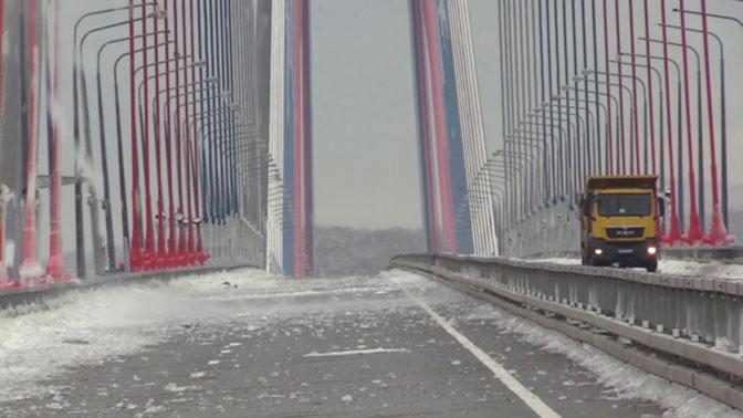 Во Владивостоке открыли движение по мосту на остров Русский