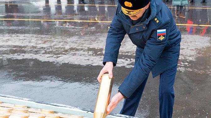 В мемориальном комплексе «Дорога памяти» заложили гильзы с захоронений советских воинов в Белоруссии