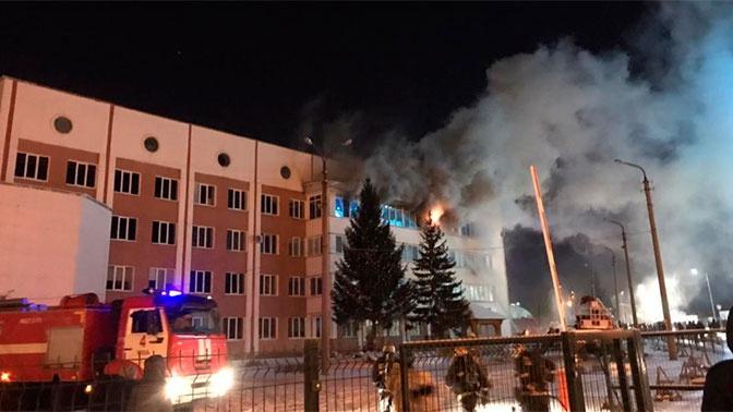 В Уфе загорелось здание Республиканской станции переливания крови