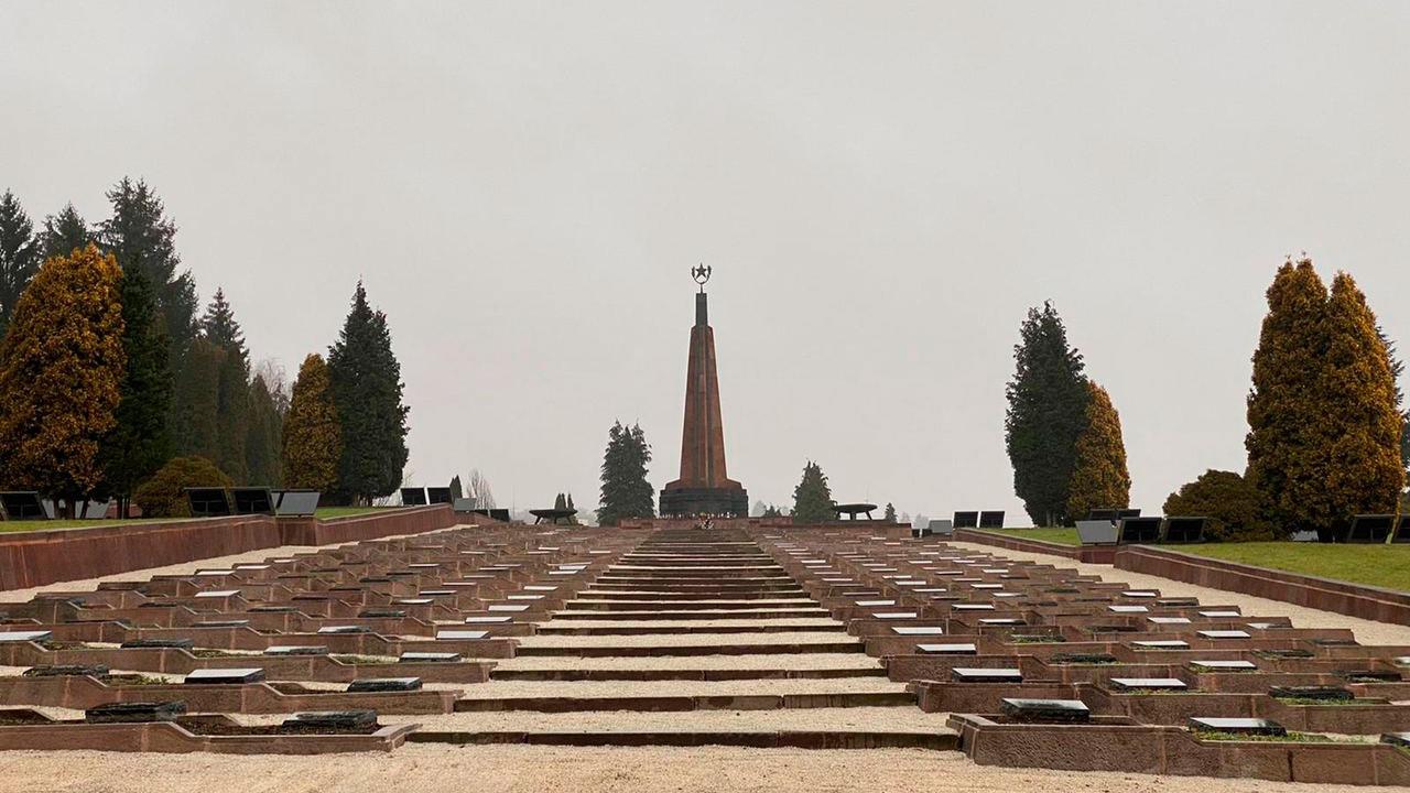 В Словакии установили мемориал с именами советских воинов