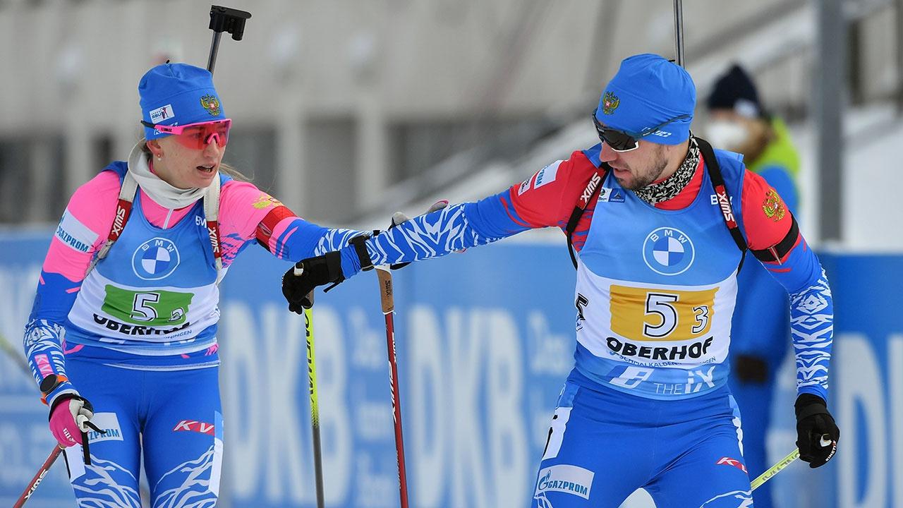 Российские биатлонисты одержали победу на Кубке мира и прервали безмедальную серию