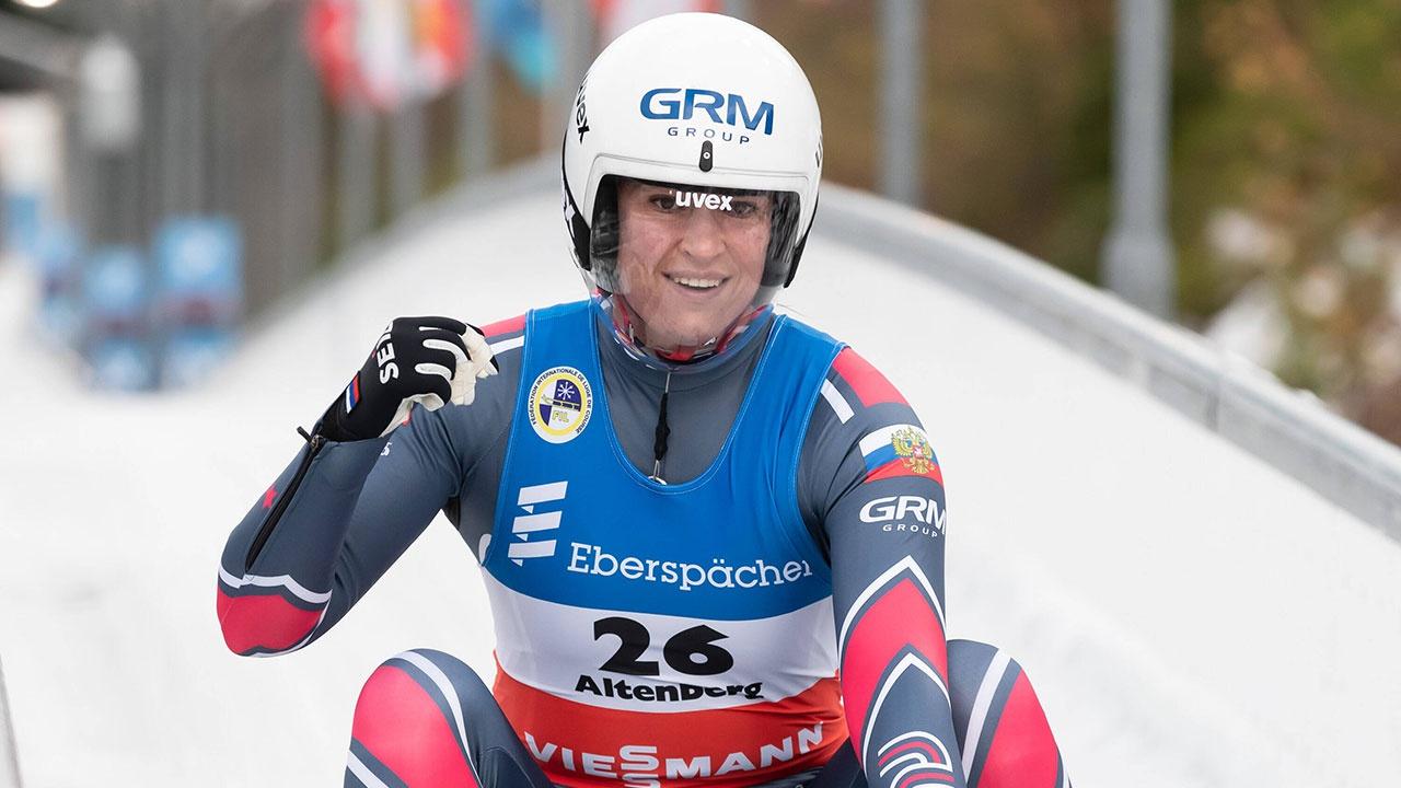Российская саночница Иванова завоевала золото на чемпионате Европы