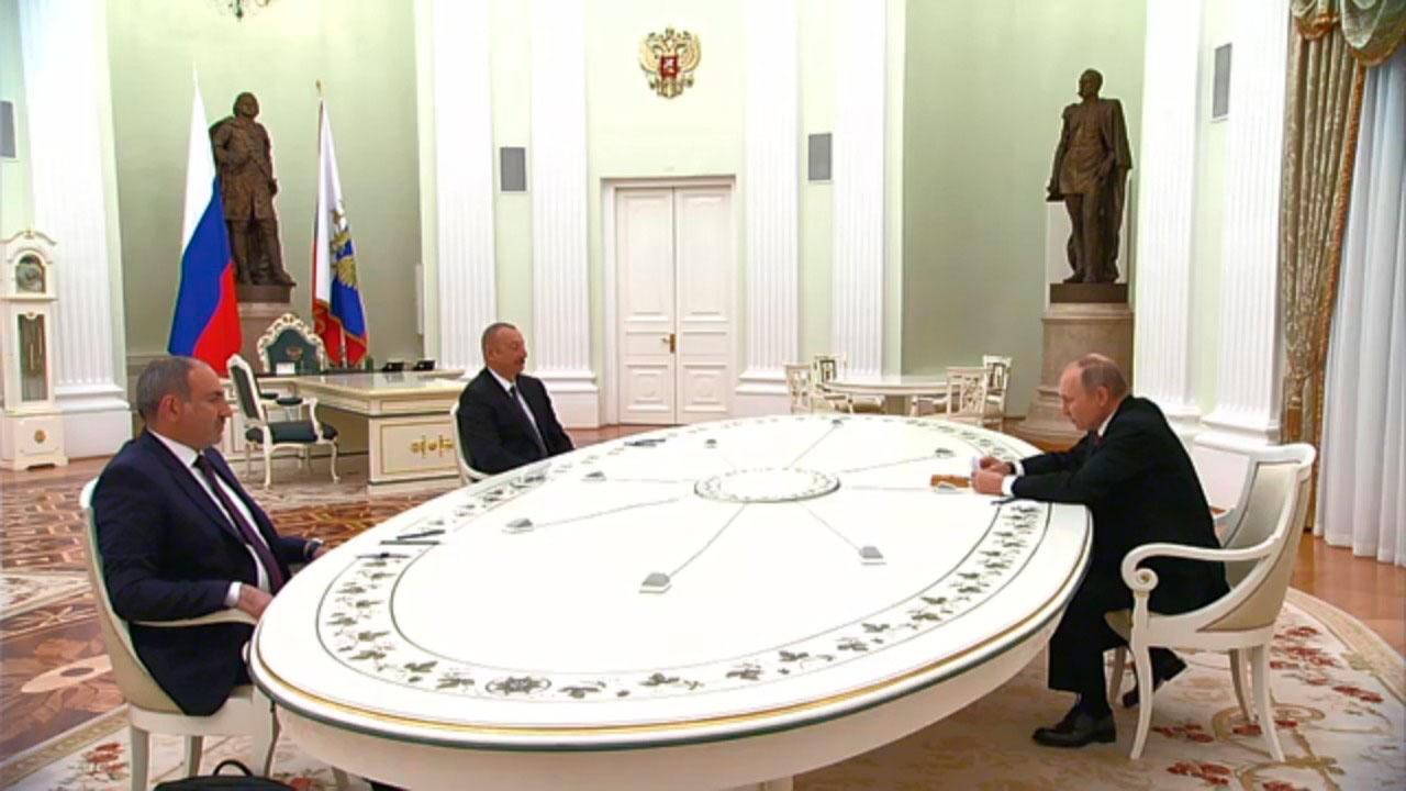 В Москве завершились переговоры Путина, Алиева и Пашиняна