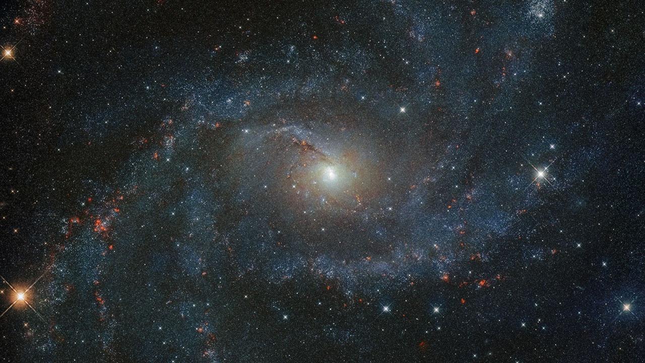 «Хаббл» сфотографировал «галактику-фейерверк»