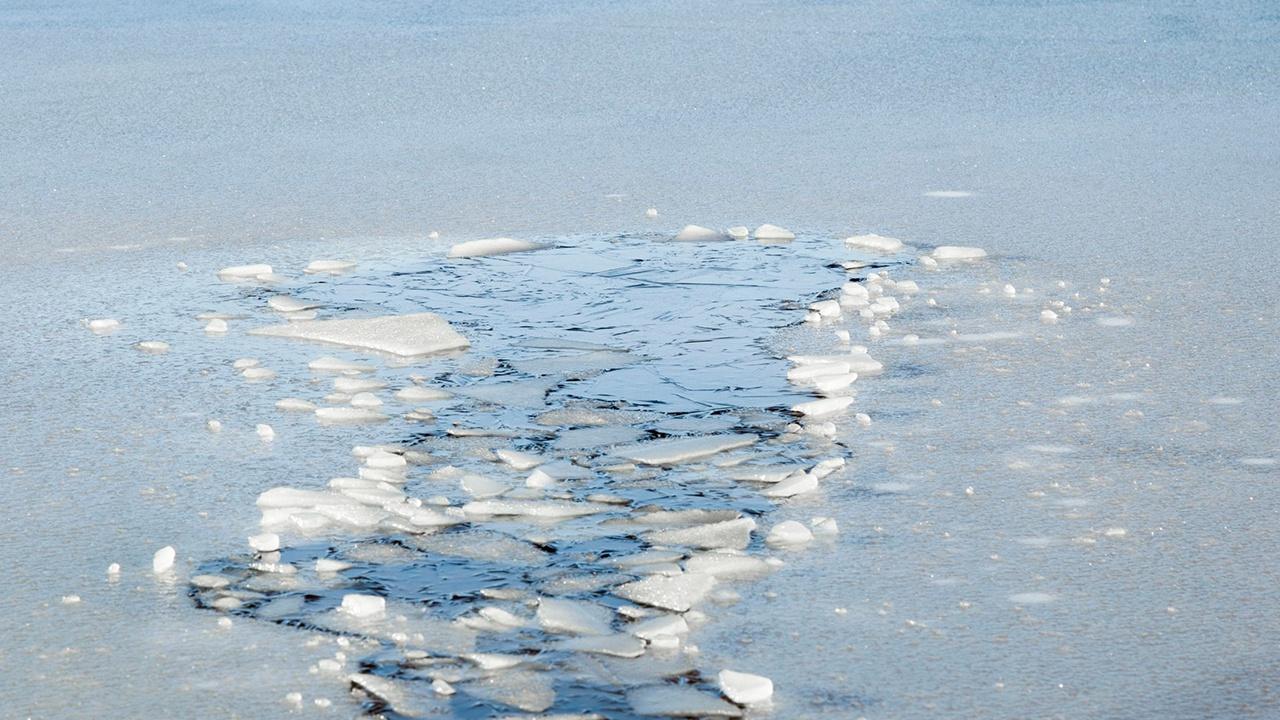 В Москве спасли провалившегося под лед мужчину
