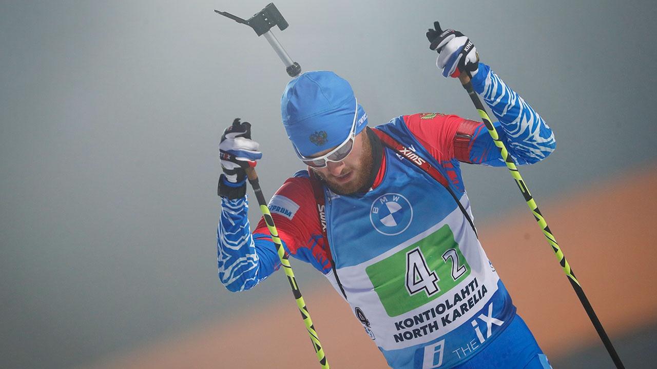 Российские биатлонисты взяли бронзу в эстафете на этапе Кубка мира в Италии