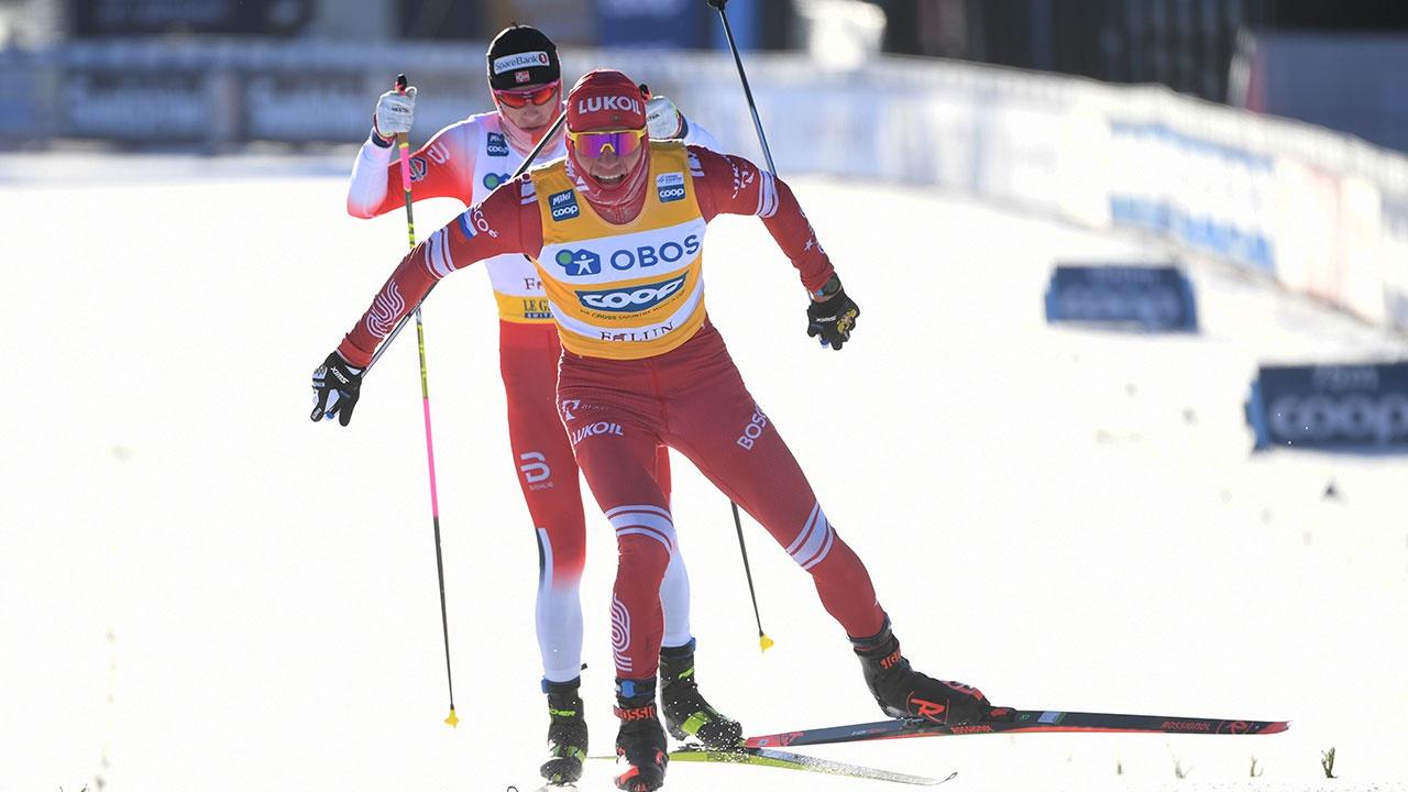Большунов выиграл индивидуальную гонку на этапе Кубка мира в Фалуне