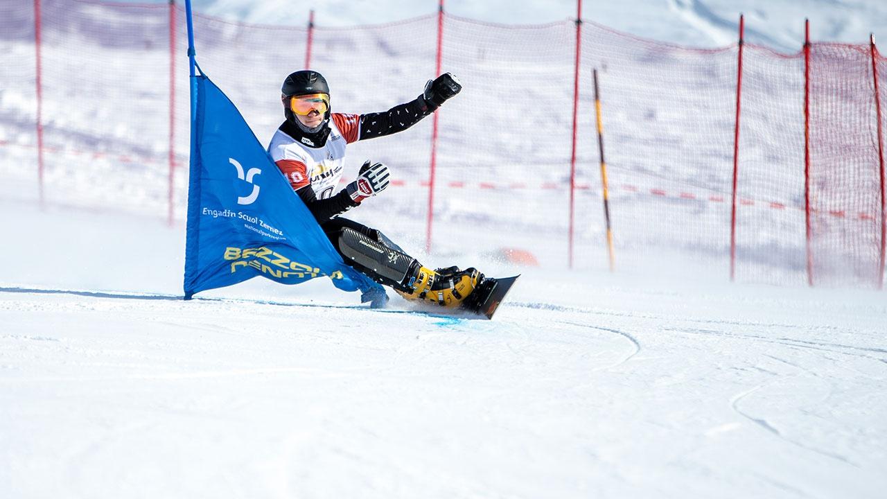 Логинов победил в параллельном слаломе на этапе Кубка мира по сноуборду в Челябинской области