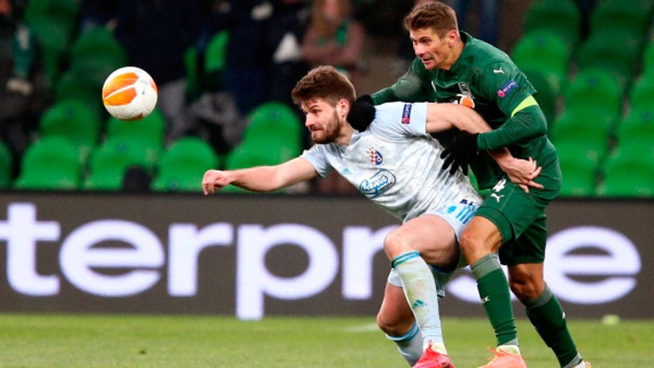 «Краснодар» уступил «Динамо» из Загреба в первом матче 1/16 финала Лиги Европы