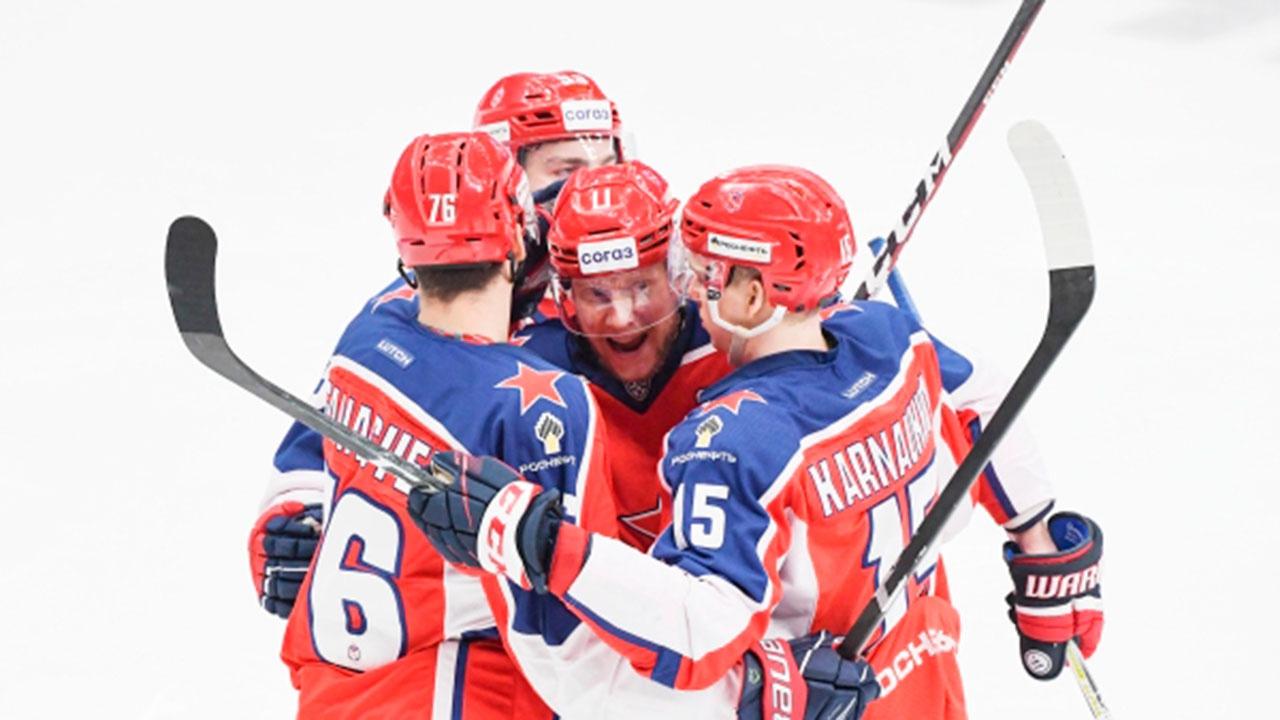 Победителем Западной конференции КХЛ стал ЦСКА