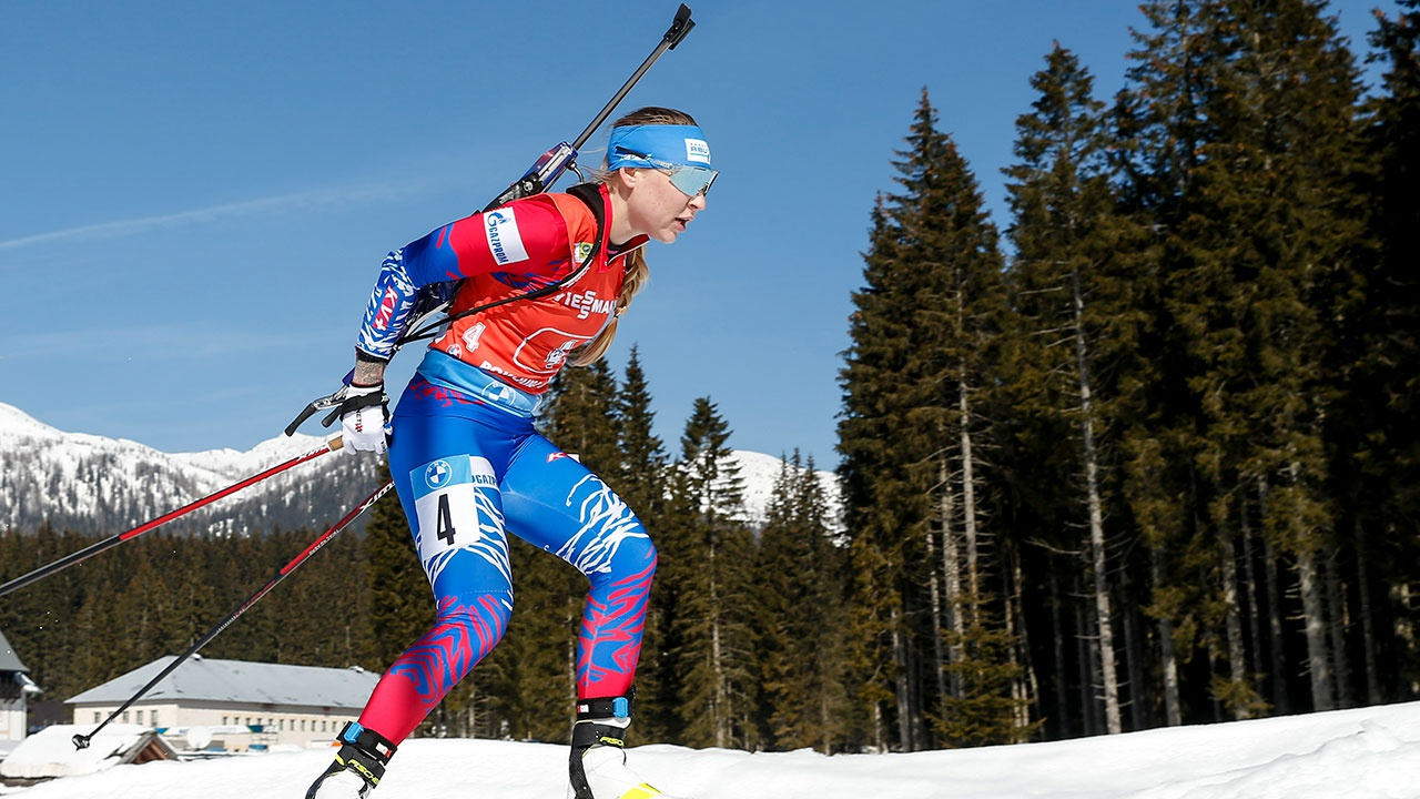 Российские биатлонистки остались без медалей в эстафете ЧМ