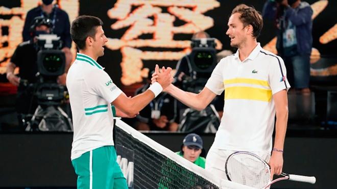 Теннисисты Медведев и Джокович поделились впечатлениями о матче