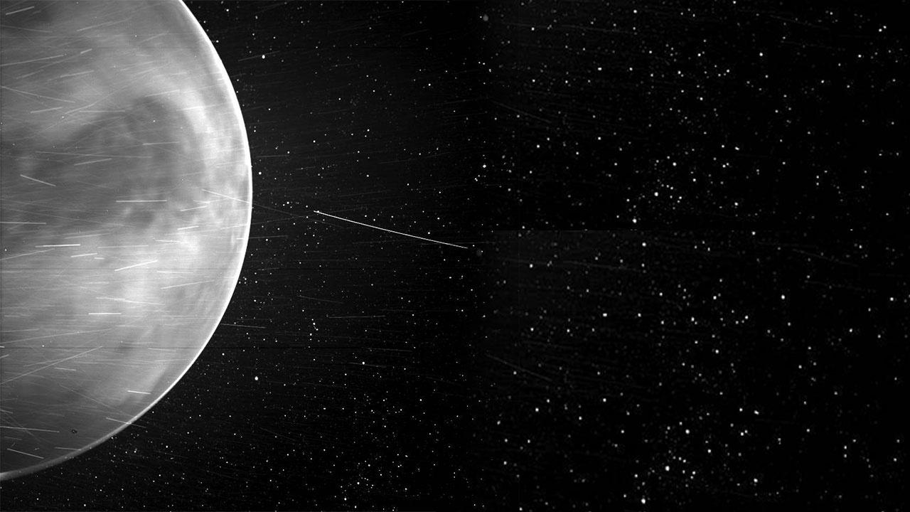 NASA показало таинственное свечение ночной Венеры