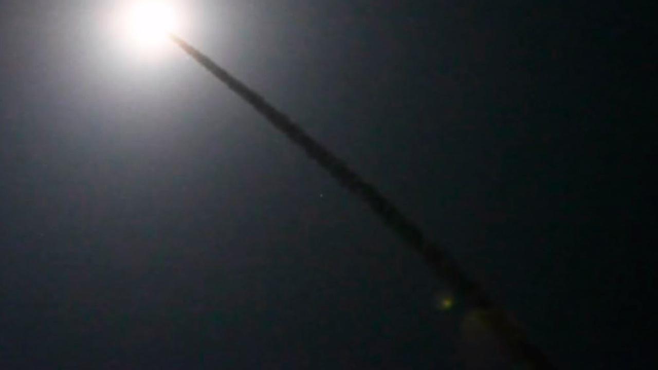 Испытательный пуск возвращаемой МБР Minuteman 3 в США сняли на видео