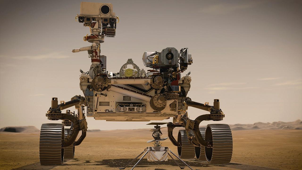 Российско-европейский аппарат снял место посадки Perseverance на Марсе