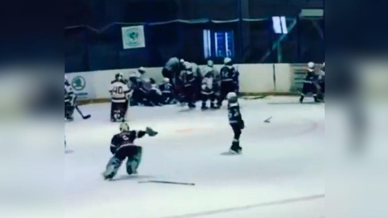 Стенка на стенку: 10-летние хоккеисты устроили драку на первенстве Оренбургской области
