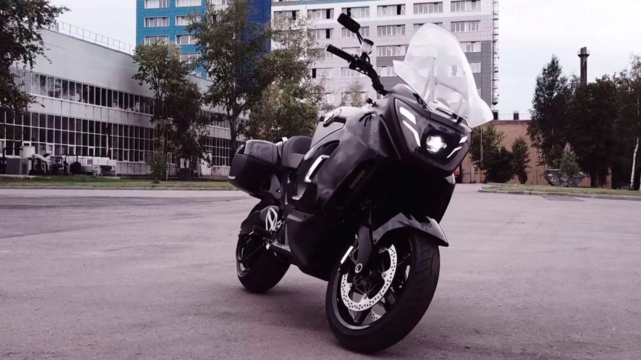 Минпромторг презентовал прототип электромотоцикла Aurus