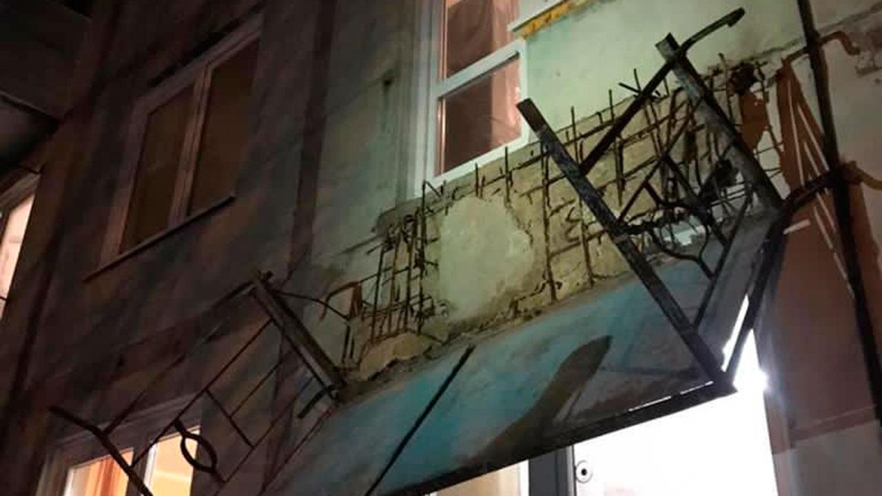В Калужской области обрушился балкон с людьми