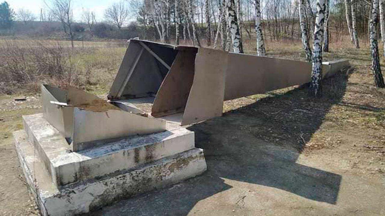 В Молдавии вандалы разрушили мемориал советским воинам