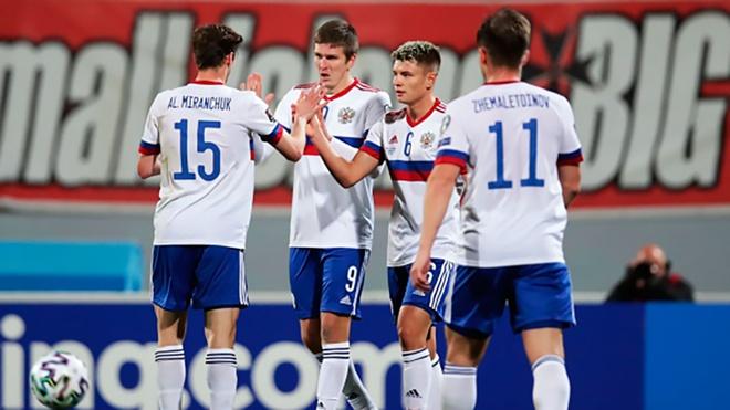 Назван стартовый состав сборной России на матч против Словении