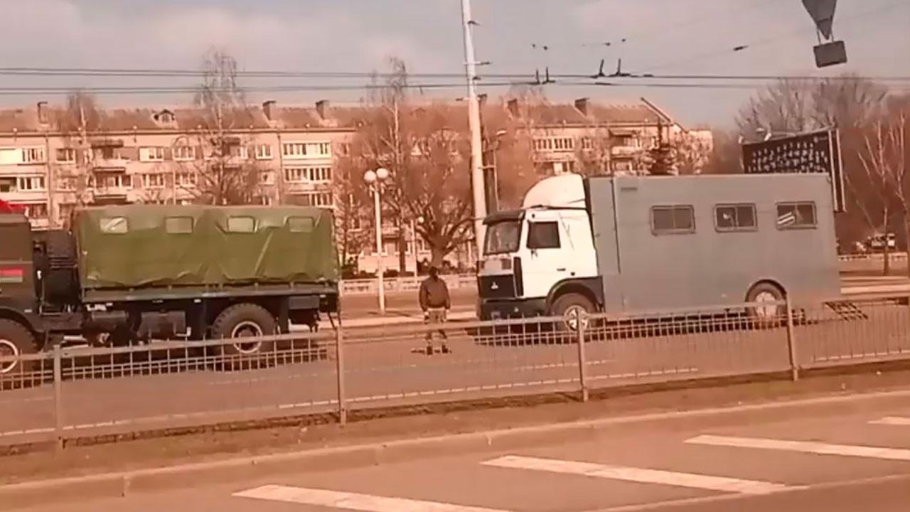 В центре Минска замечена спецтехника