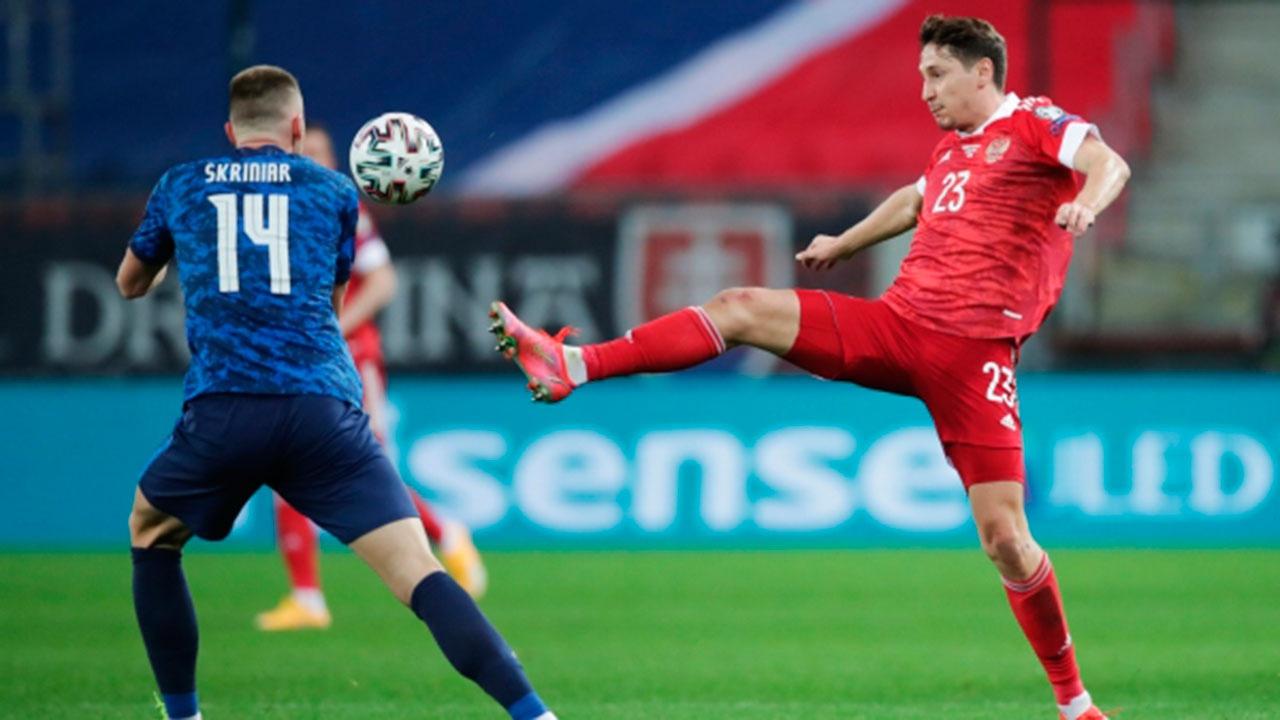 Сборная России по футболу уступила команде Словакии