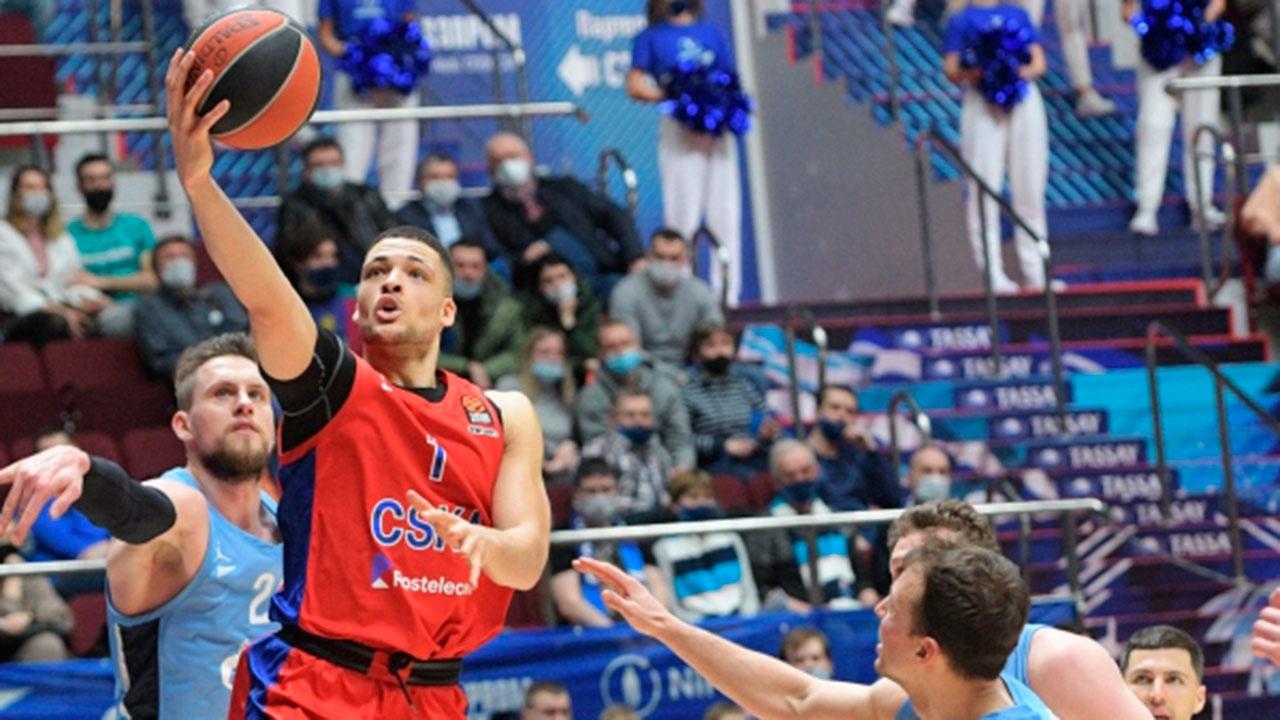 ЦСКА победил «Зенит» в матче баскетбольной Евролиги
