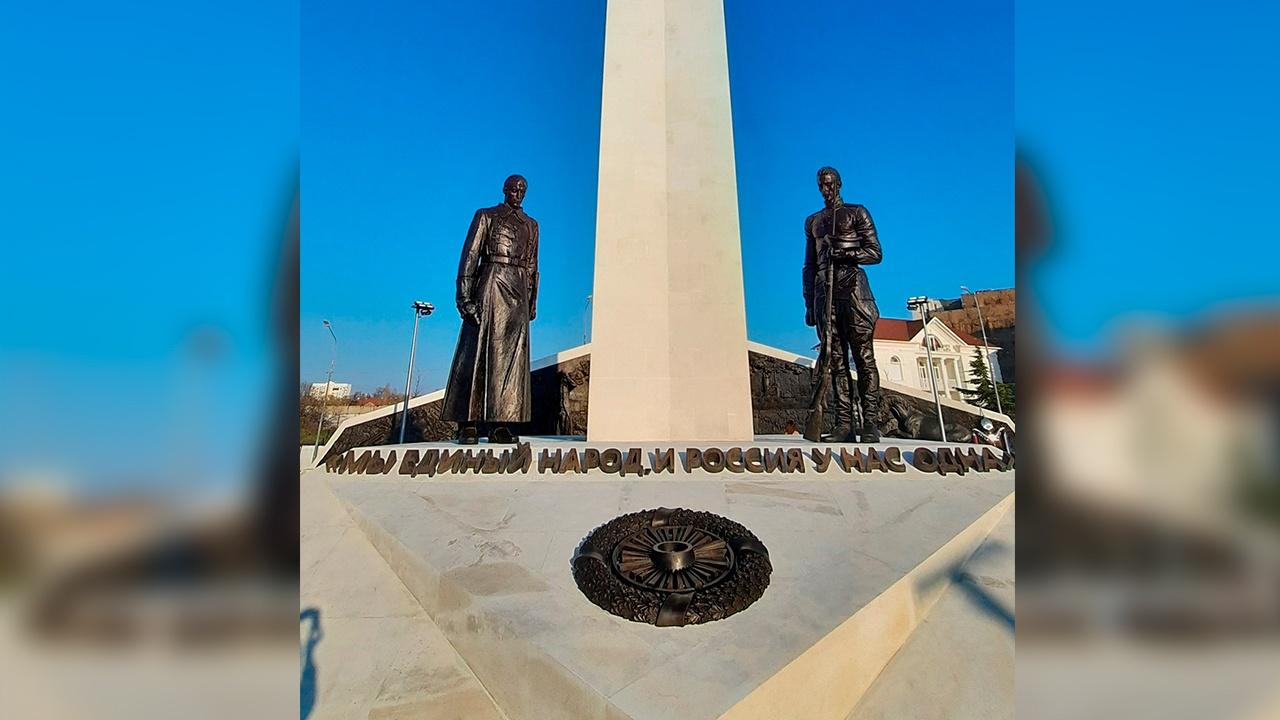 В Севастополе открыли посвященный столетию окончания Гражданской войны монумент