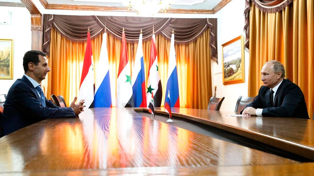 Путин и Асад обсудили подготовку майских президентских выборов в Сирии