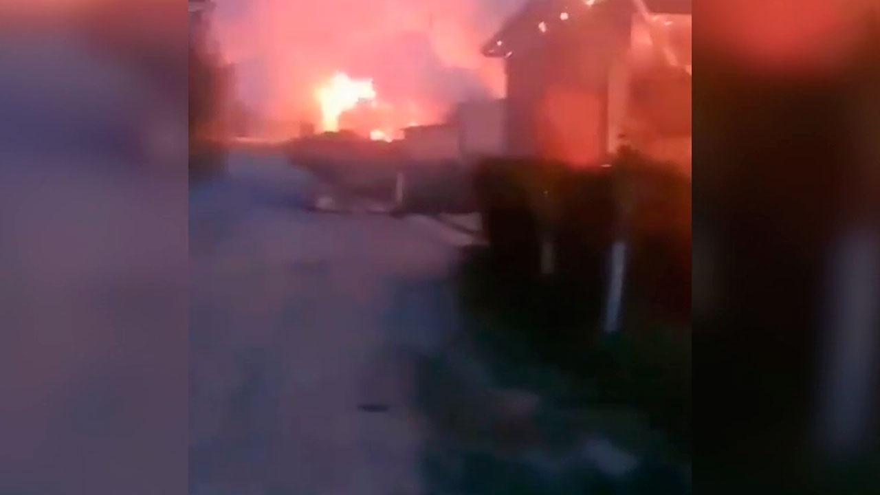 Школа и десятки домов сгорели из-за конфликта на границе с Таджикистаном