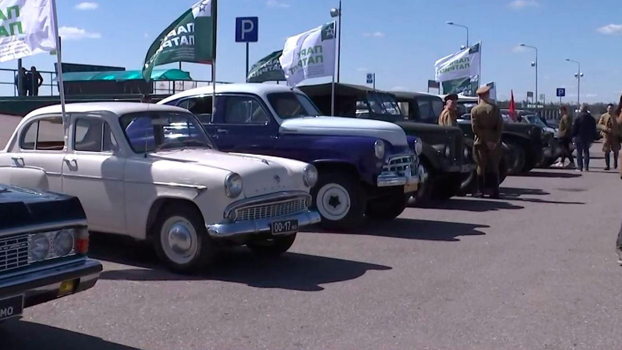 «Под знаменем Победы!»: в парке «Патриот» прошел ретро-парад