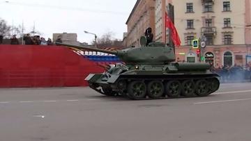 От Т-34 до С-400: кадры тренировки парада Победы в Мурманске