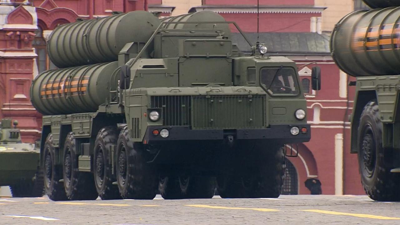 Пусковые установки ЗРС С-400<figcaption class=