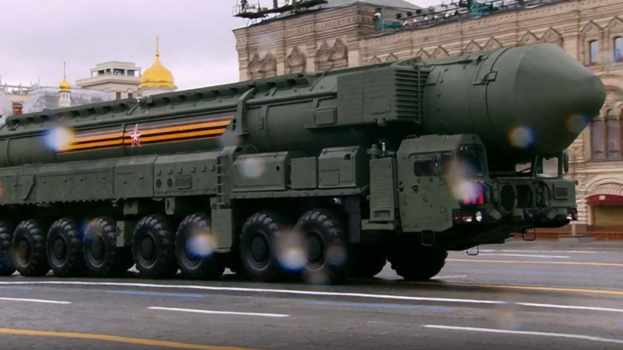 Пусковая установка стратегического ракетного комплексо мобильного базирования «Ярс»<figcaption class=