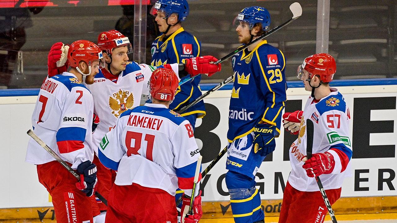 Сборная России обыграла команду Швеции на Чешских хоккейных играх