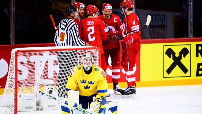 Брагин оценил игру российских хоккеистов в матче ЧМ против шведов