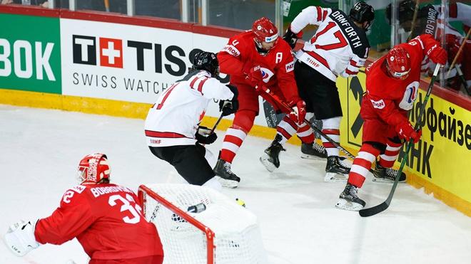 Россия уступила Канаде в рамках четвертьфинала ЧМ по хоккею