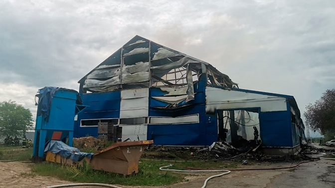 Крупный пожар на складе в Коломне ликвидировали