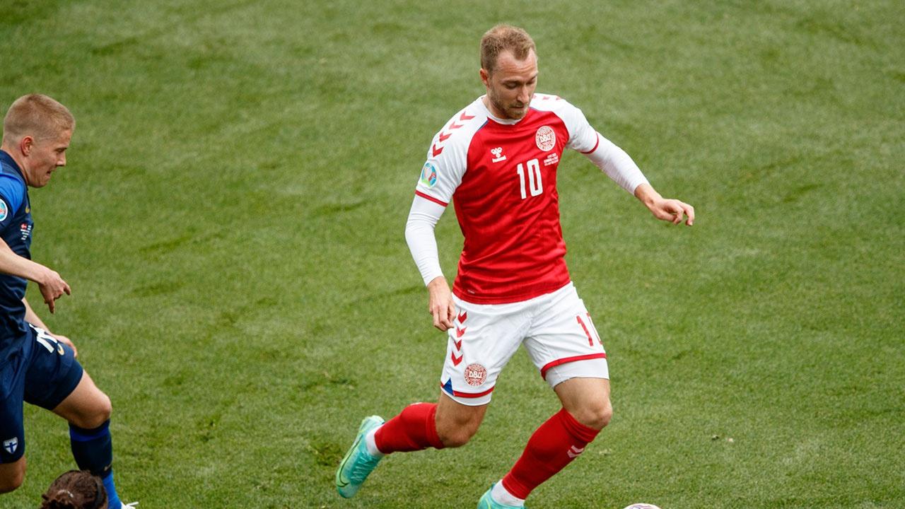 Кристиан Эриксен признан игроком матча Дания-Финляндия на Евро-2020