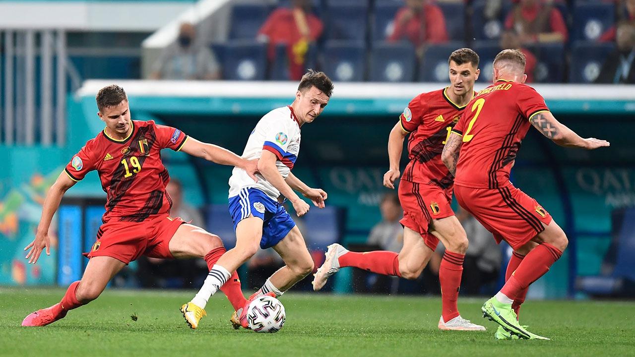 Сборная России проиграла команде Бельгии со счетом 0:3 на Евро-2020