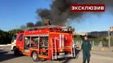 Десятки машин экстренных служб: кадры тушения крупного пожара на АЗС в Новосибирске