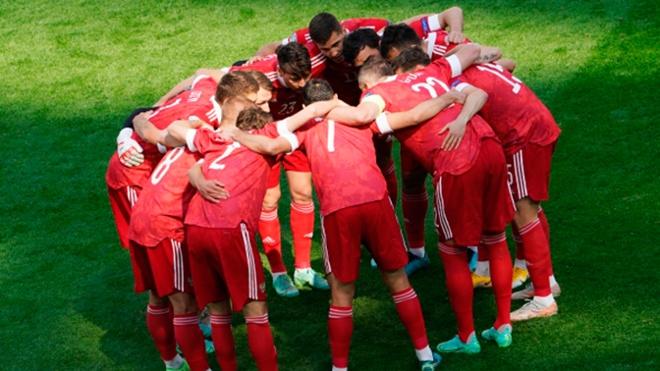 Сборная Россия забила первый гол в матче с Финляндией