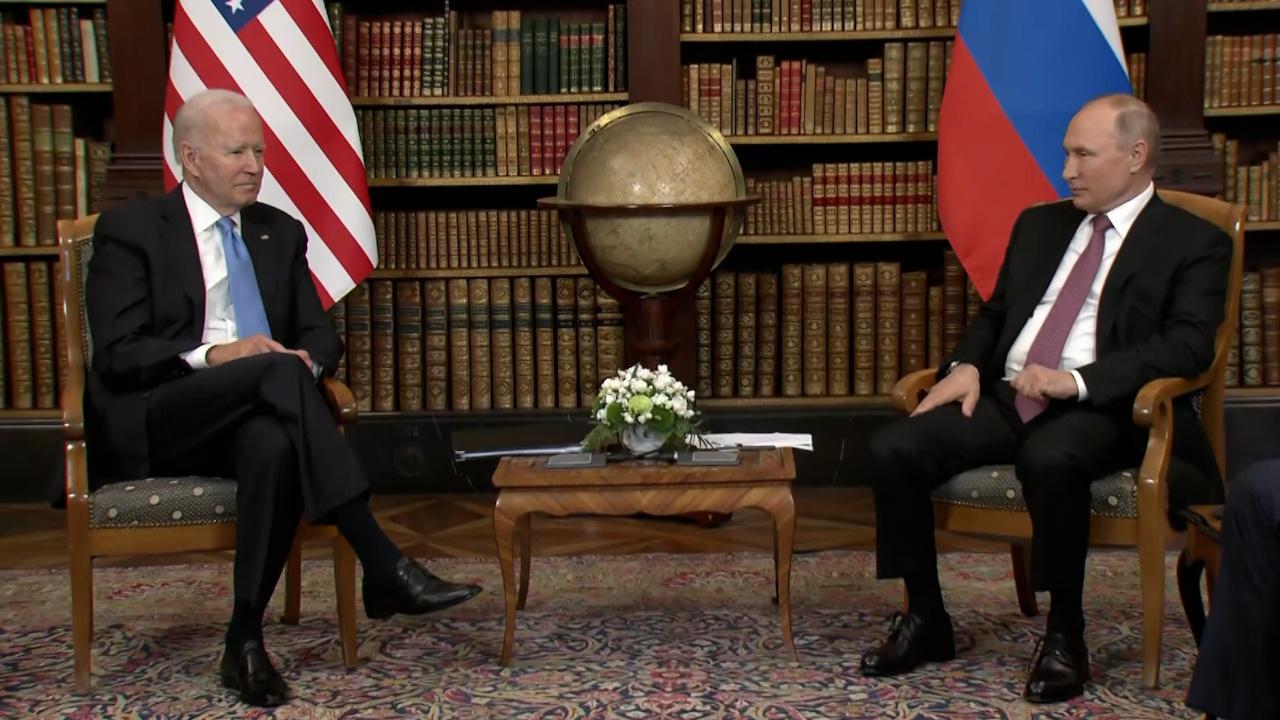 В Женеве начались переговоры Путина и Байдена в узком составе