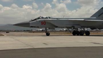 Самолеты МиГ-31К и Ил-38 прибыли на авиабазу Хмеймим в рамках учений