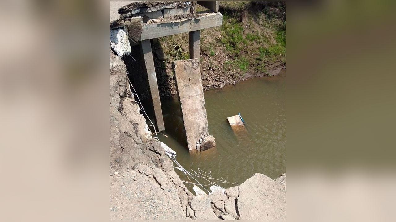 В Приморье произошло частичное обрушение моста
