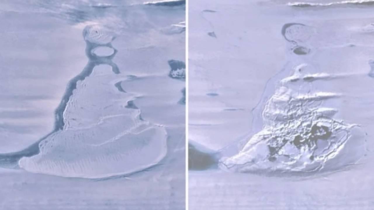 Огромное озеро в Антарктиде исчезло менее чем за неделю